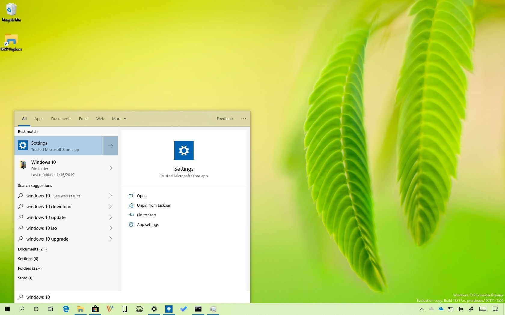 Search without Cortana on Windows 10