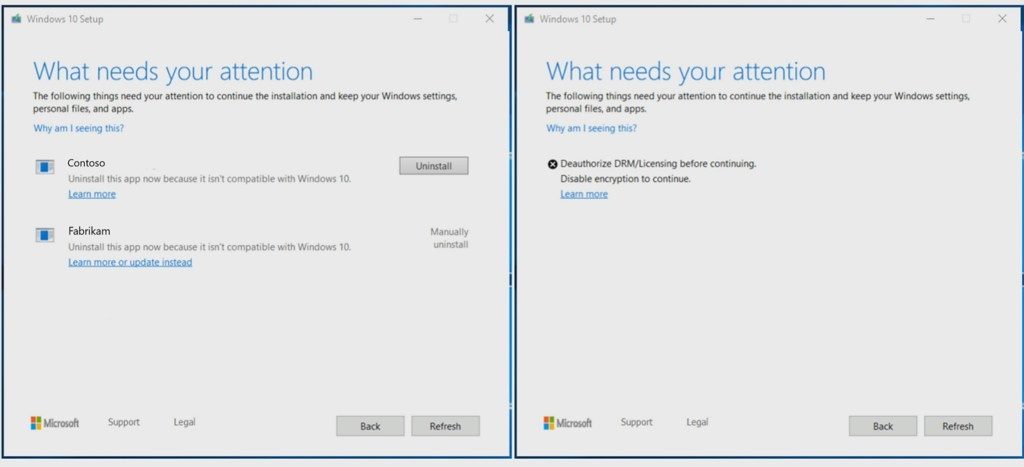 Windows 10 Setup on version 1903 (image source: Microsoft)