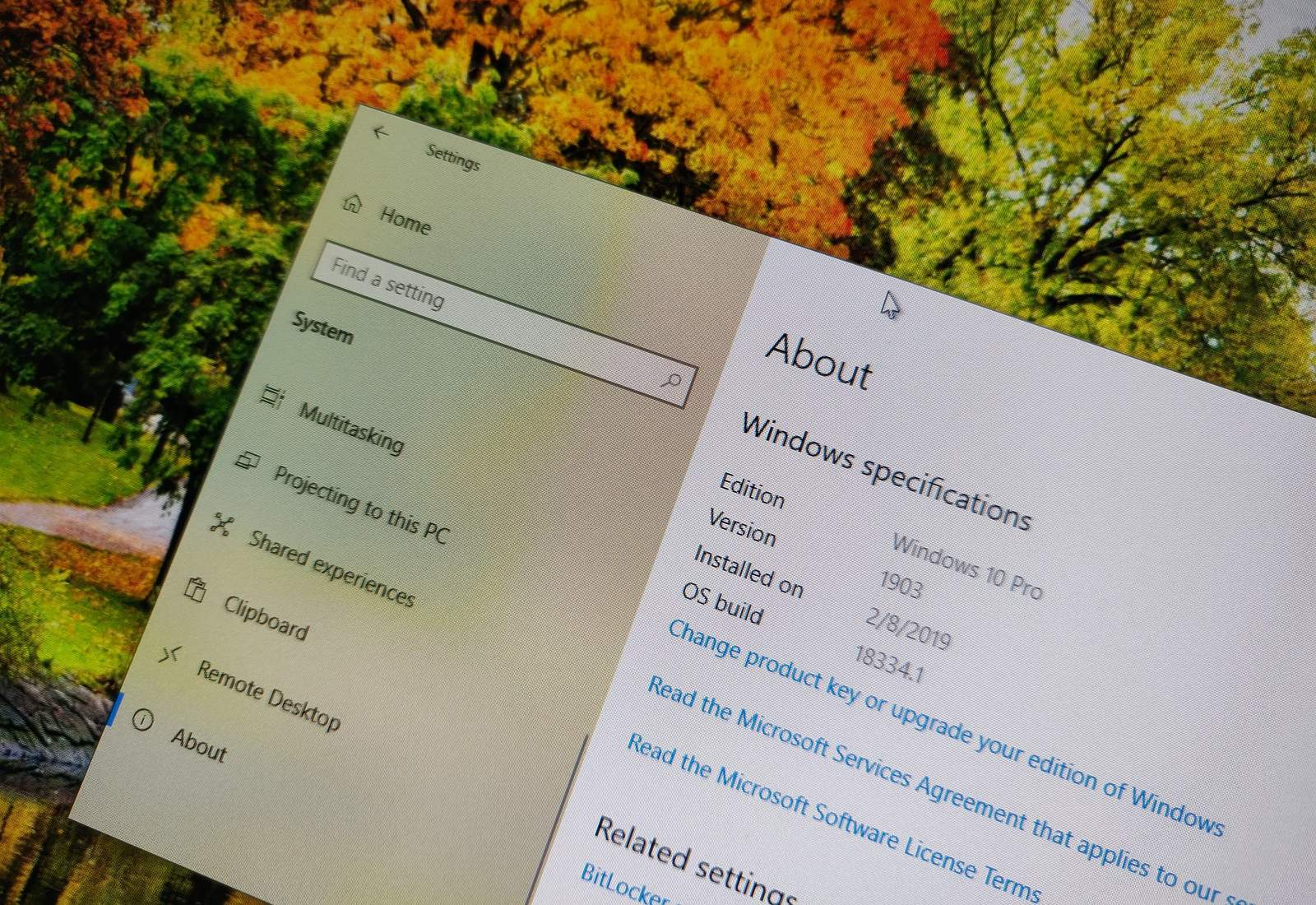 Windows 10 version 1903 without problems