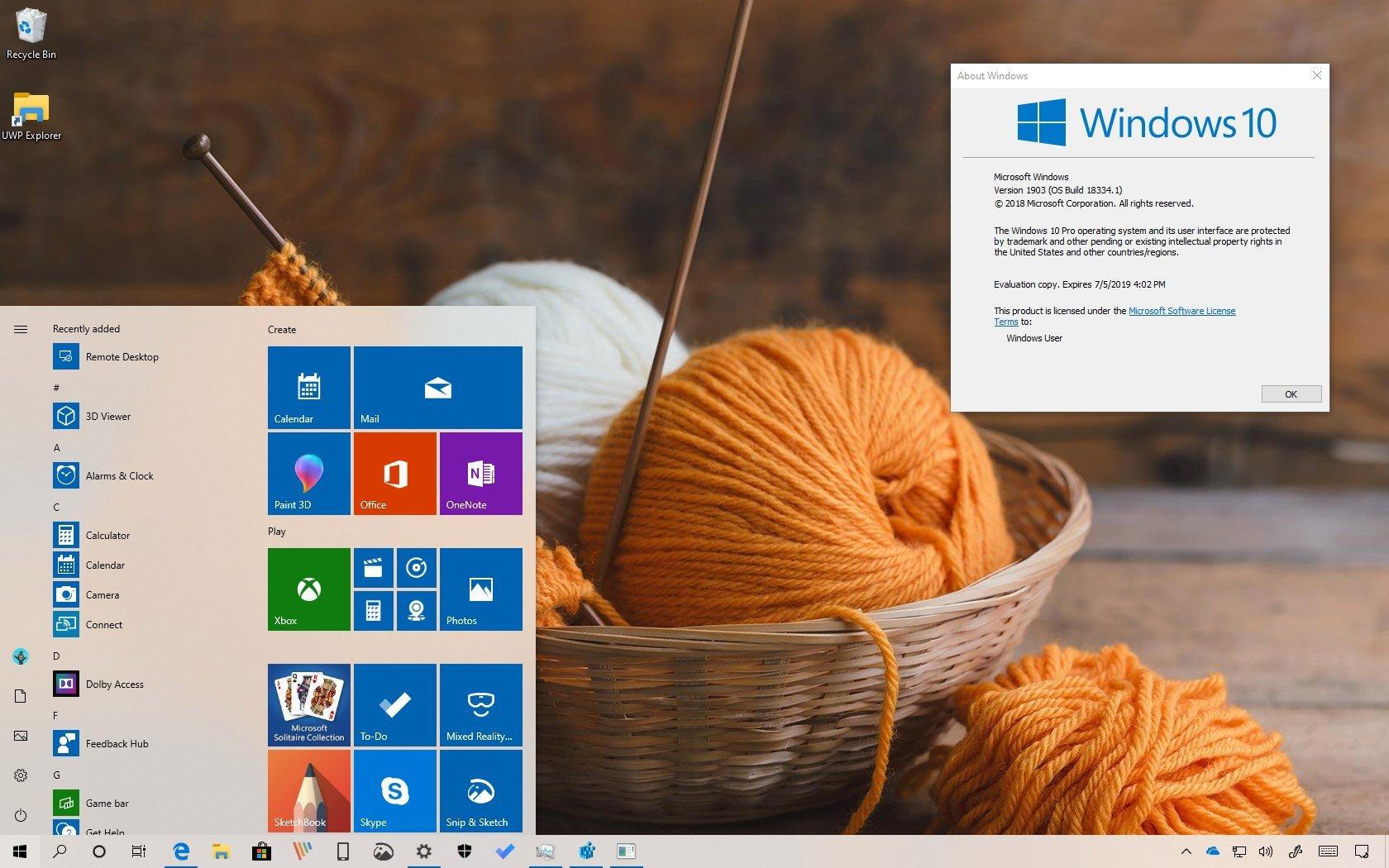 Windows 10 version 1903 best features