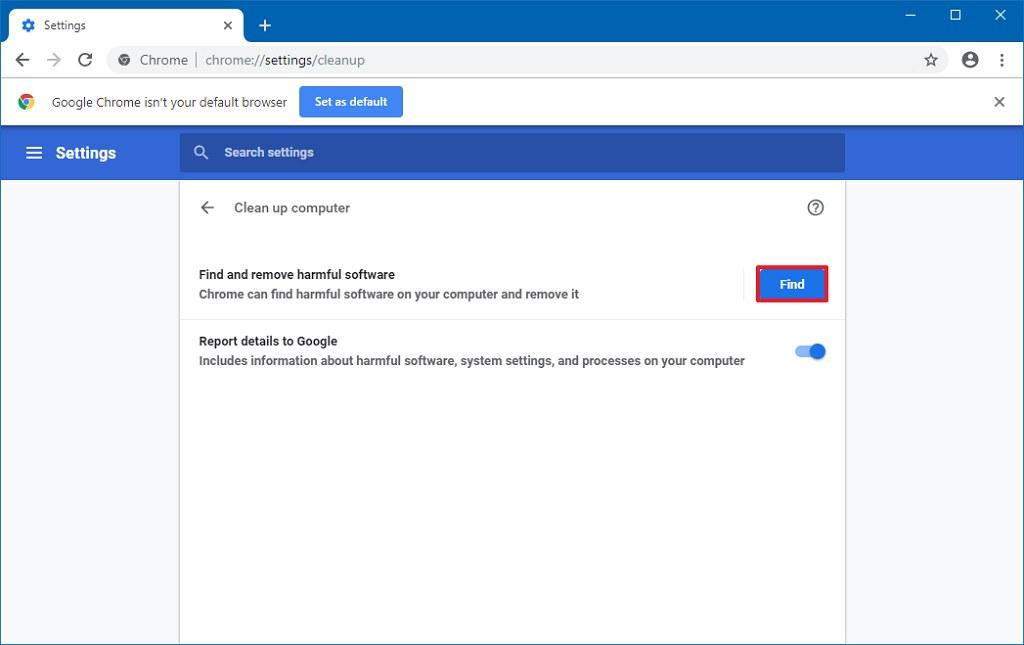 Chrome antivirus manual scan