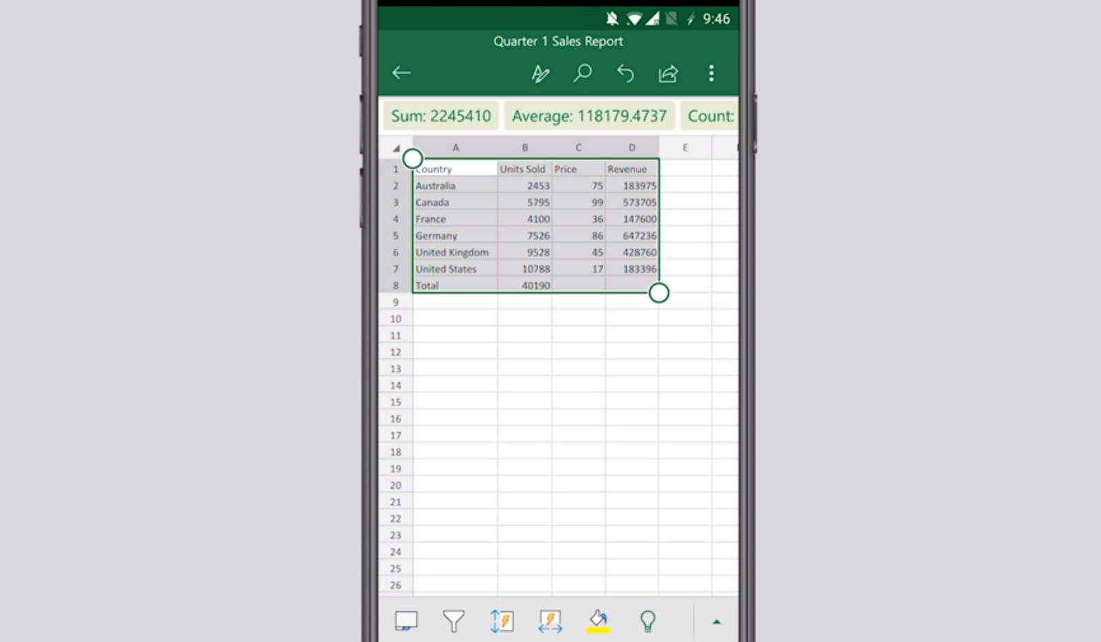 Microsoft Excel Insert data table from picture