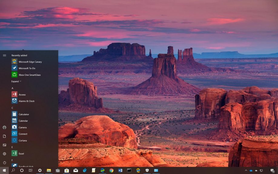 The Grand Canyon National Park theme for Windows 10