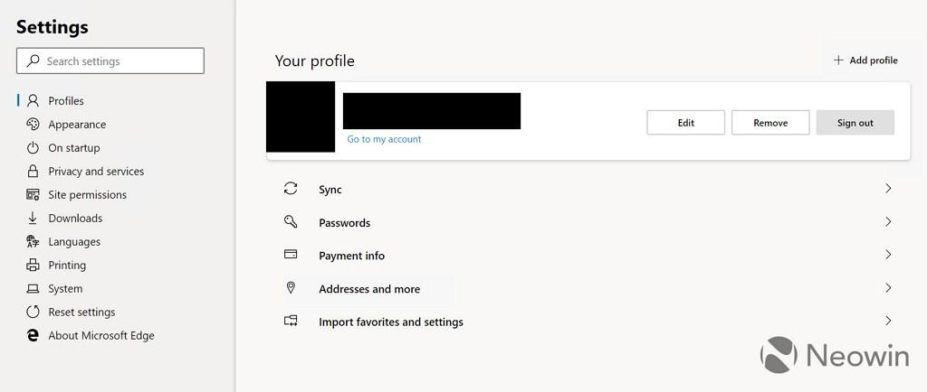 Microsoft Edge (Chromium) profiles