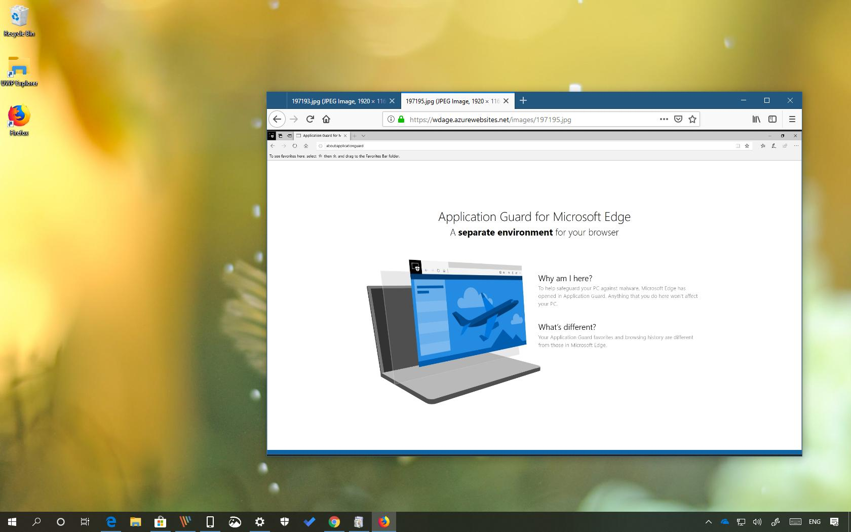 Microsoft Application Guard for Chrome and Firefox
