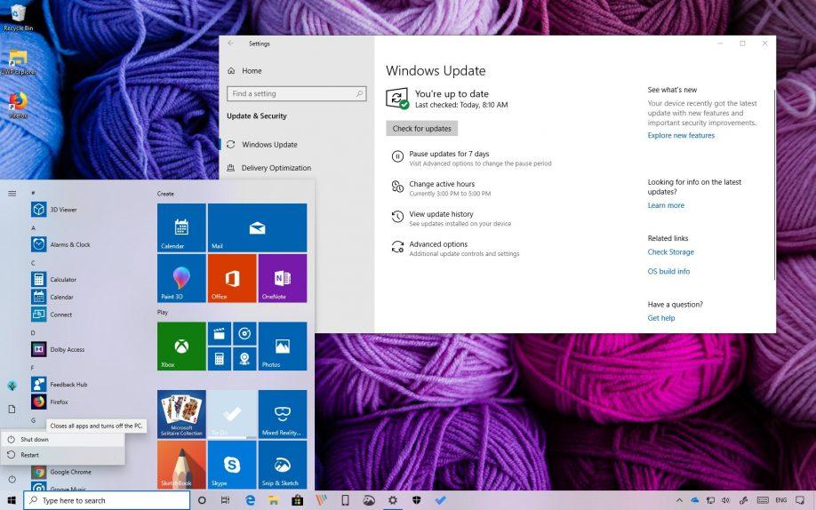 Windows 10 version 1903, April 2019 Update