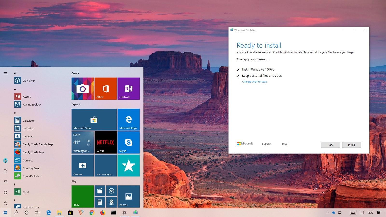 Windows 10 version 1903, April 2019 Update, upgrade process