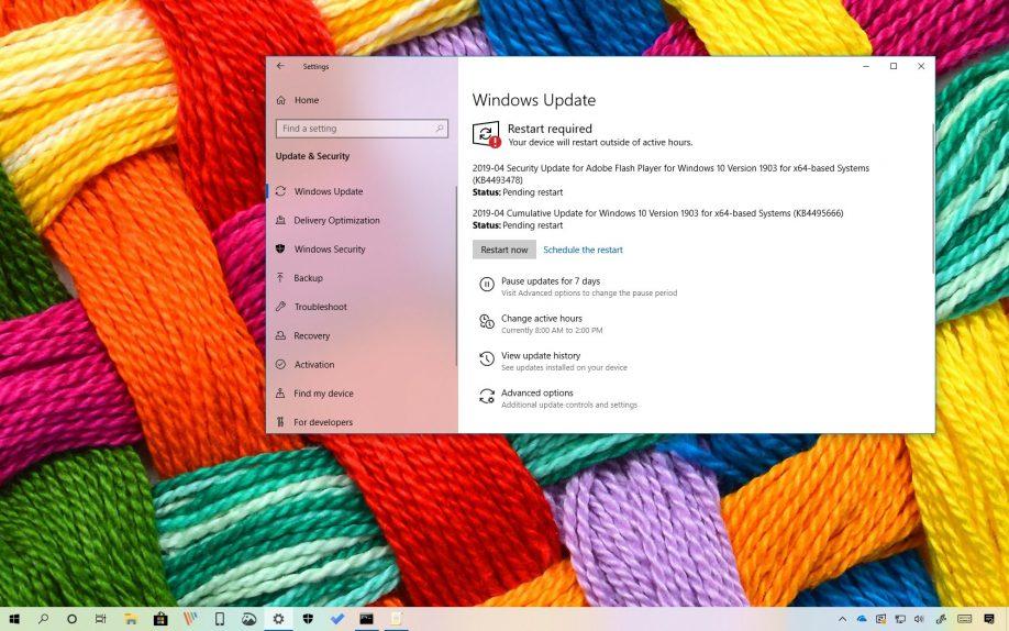 KB4495666 for Windows 10 version 1903