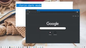 Chrome dark mode on Windows 10
