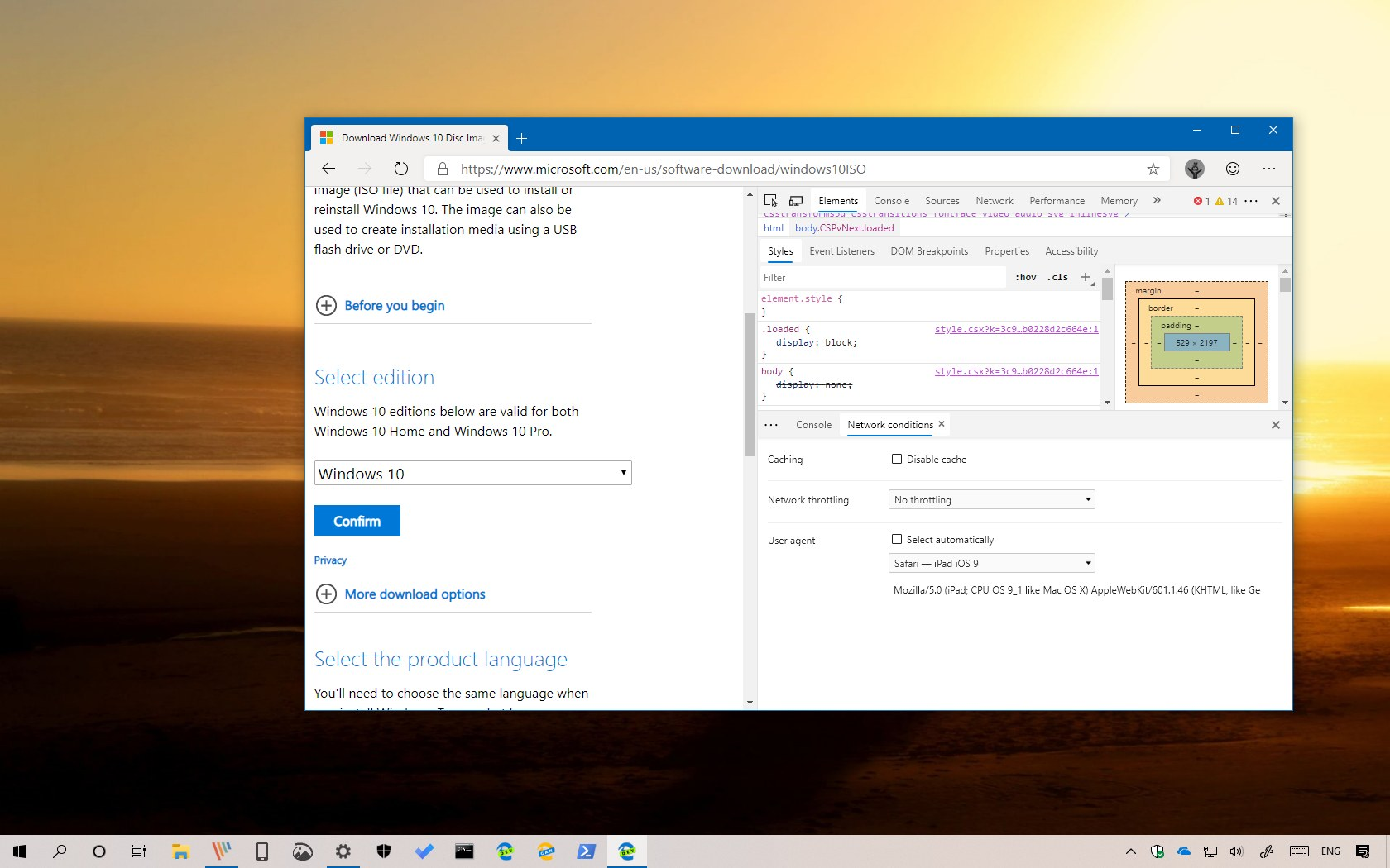 Download Windows 10 ISO file directly from Microsoft
