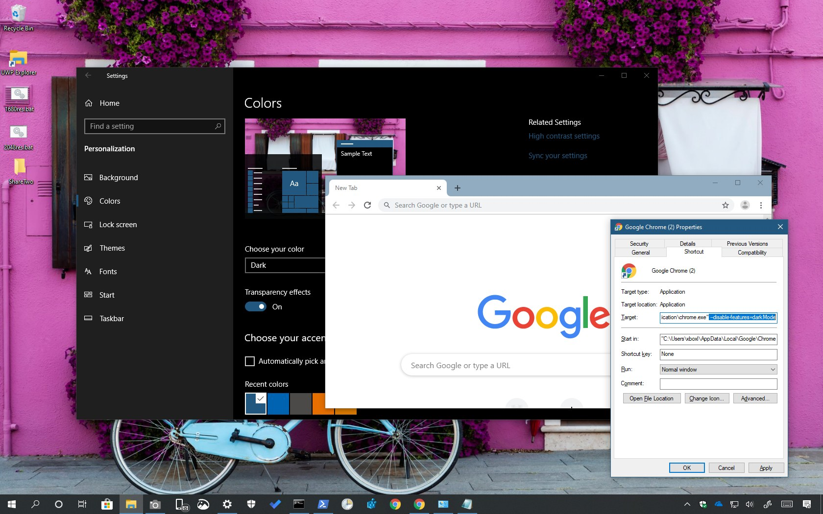 How to disable dark mode for Google Chrome on Windows 10