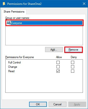 Windows 10 folder permissions