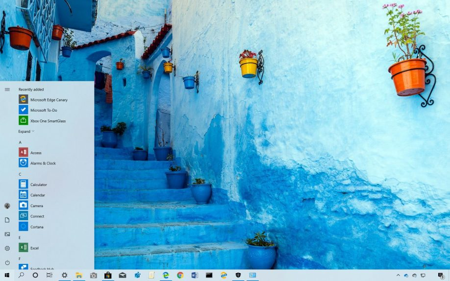 Glorious Blue theme for Windows 10