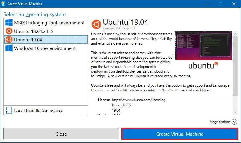 Create Ubuntu virtual machine using Hyper-V