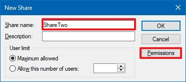 Create new share with the same folder but different name