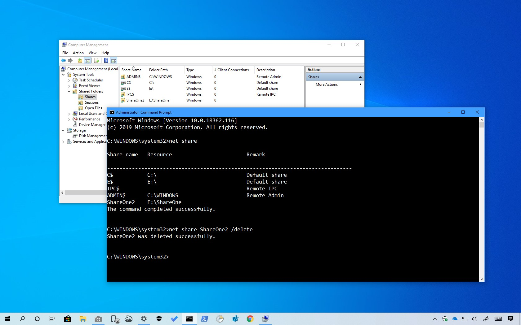 How to stop sharing a network folder on Windows 10