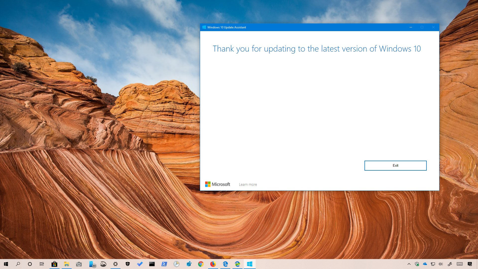 Windows 10 1903 download using Update Assistant