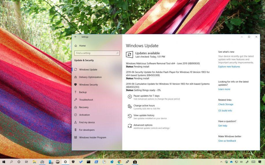 KB4503293 for Windows 10 version 1903