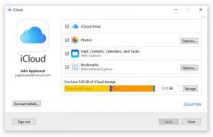 Apple iCloud for Windows 10