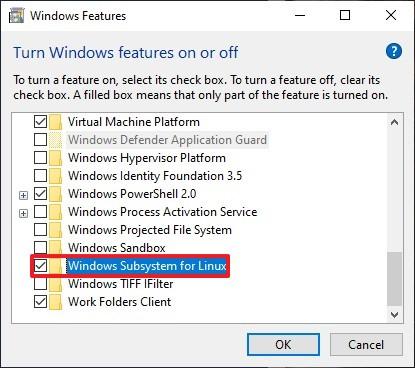 Enable WSL 1 on Windows 10