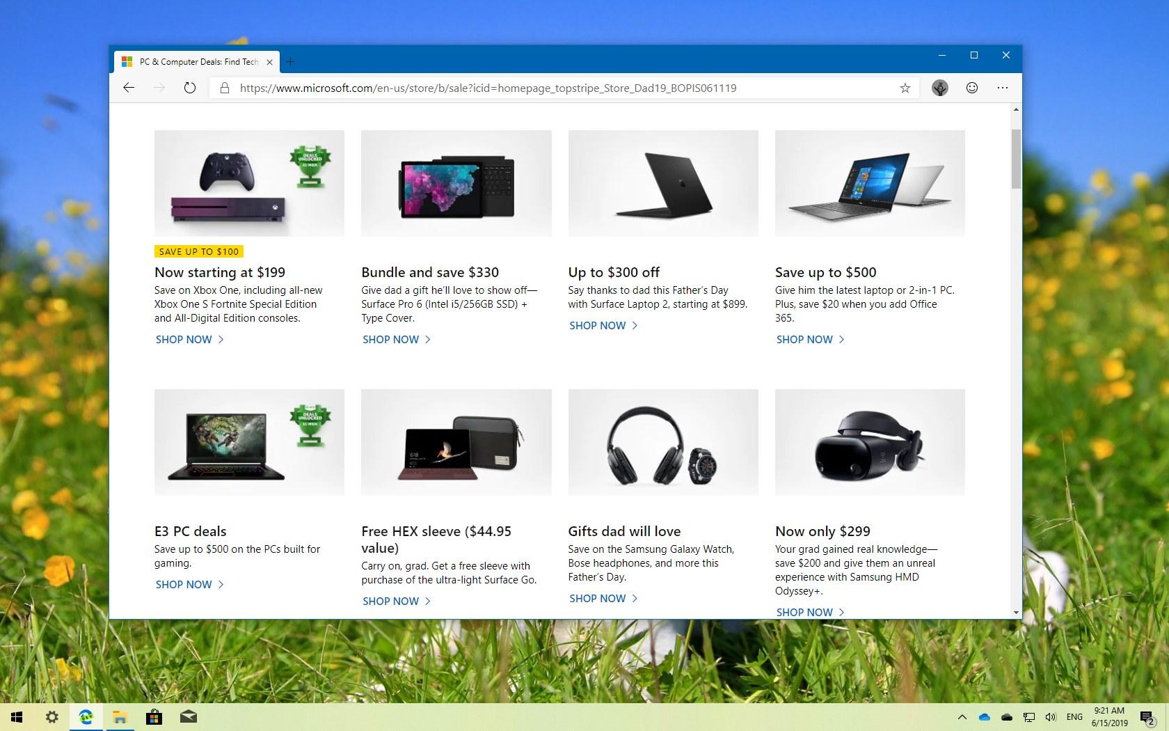 Microsoft Store Father's Day Sale 2019