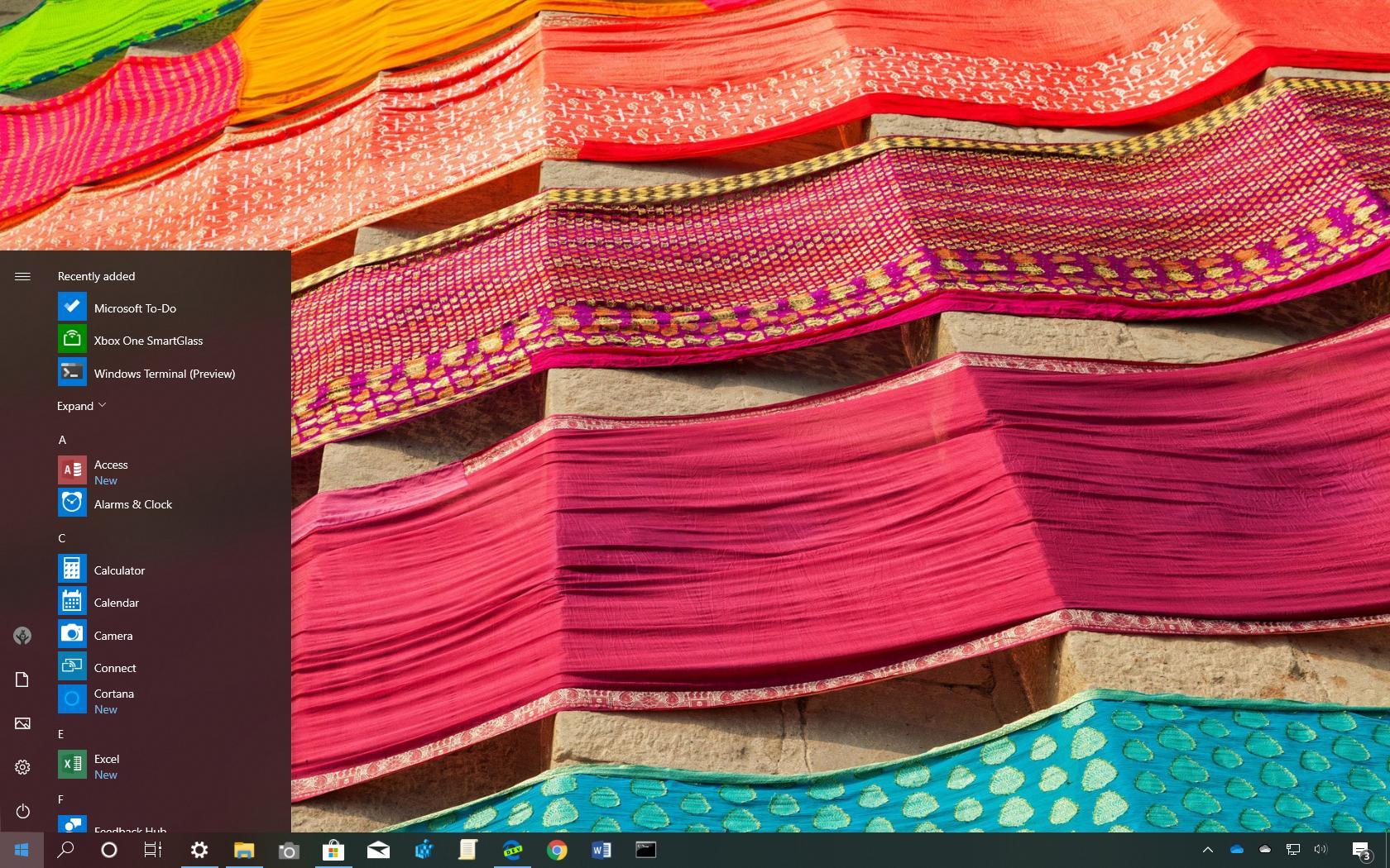 Fabrics of India theme for Windows 10