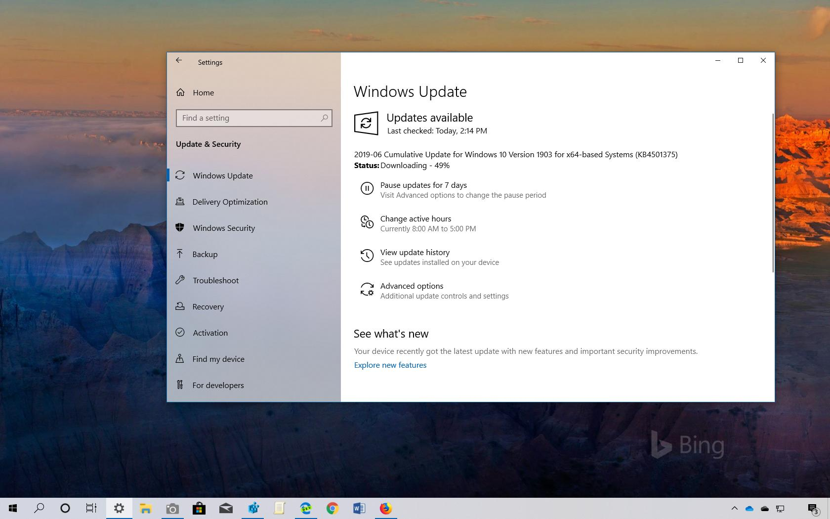 Windows 10 Update KB4501375 download