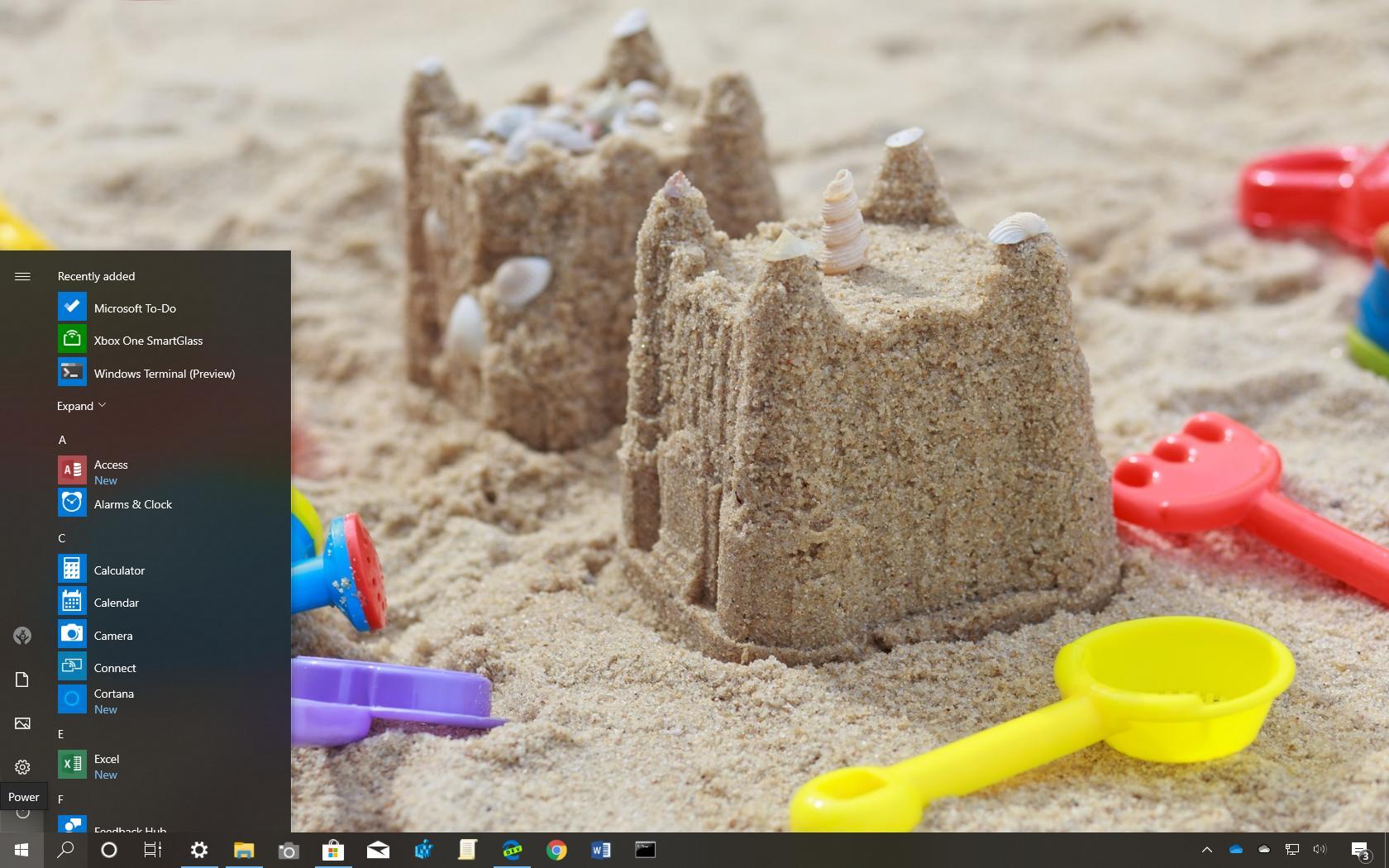 Sandy Castles theme for Windows 10