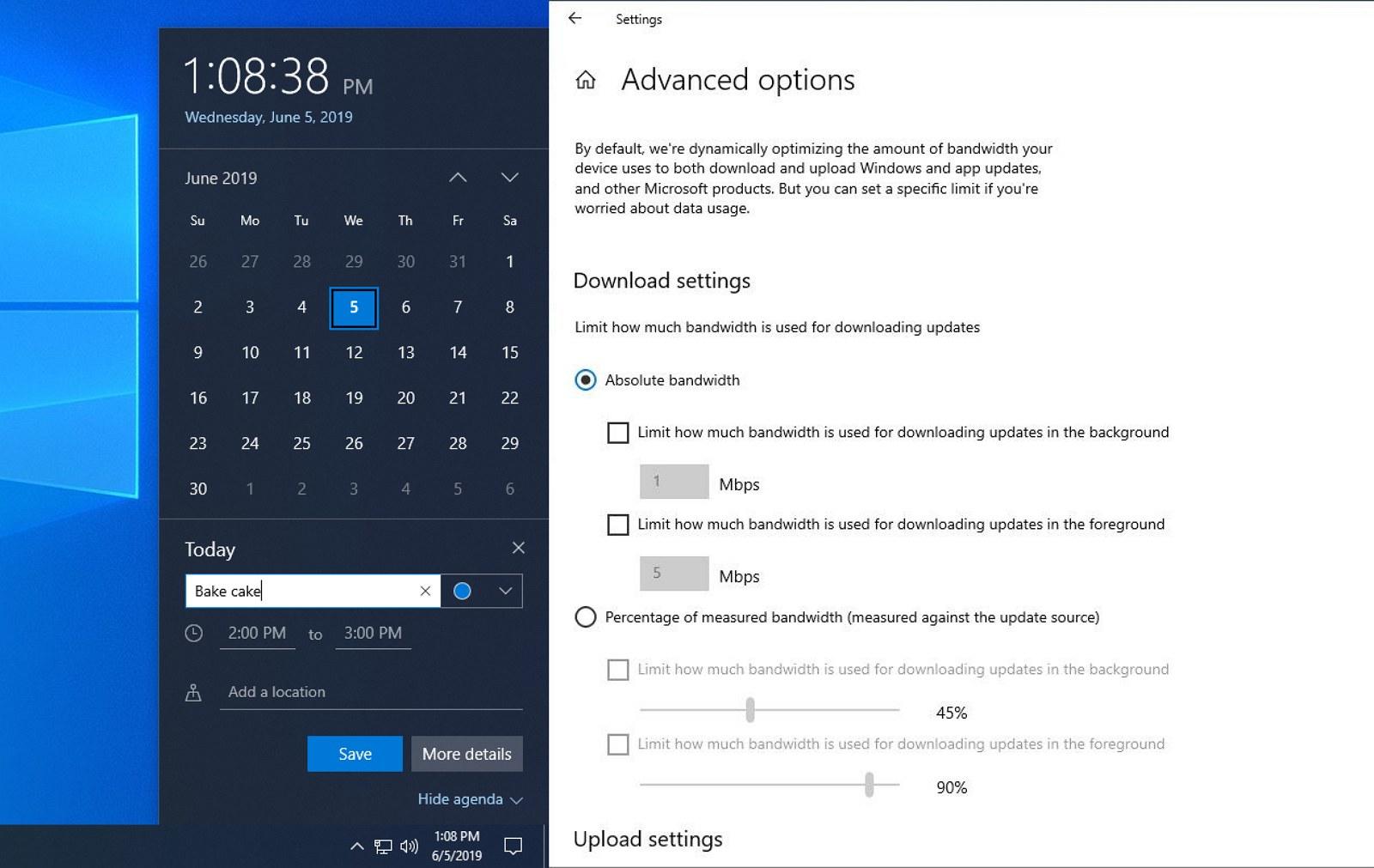 Windows 10 20H1 hidden features on build 18912