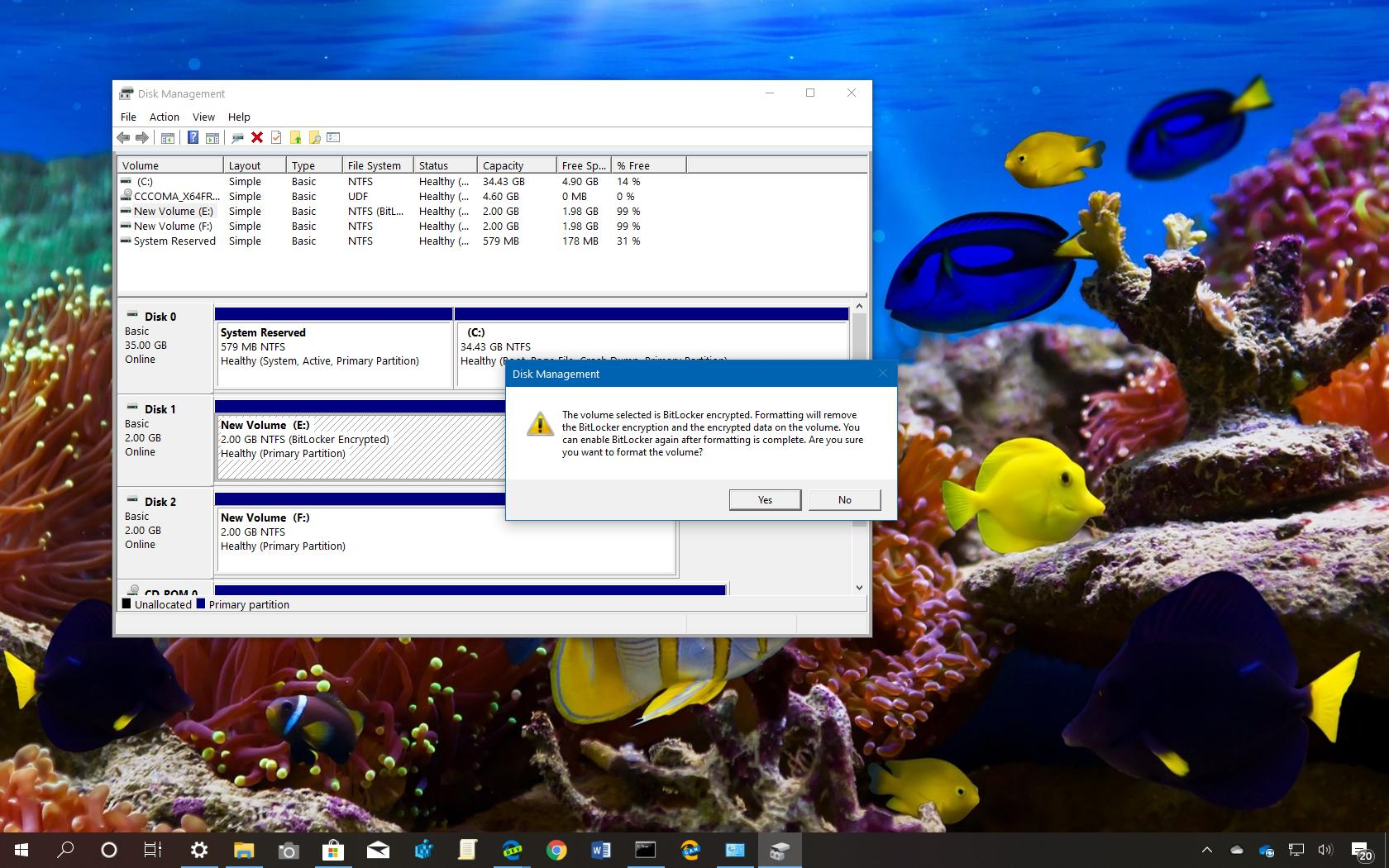 Delete Encrypted drive running Windows 10 with Gparted