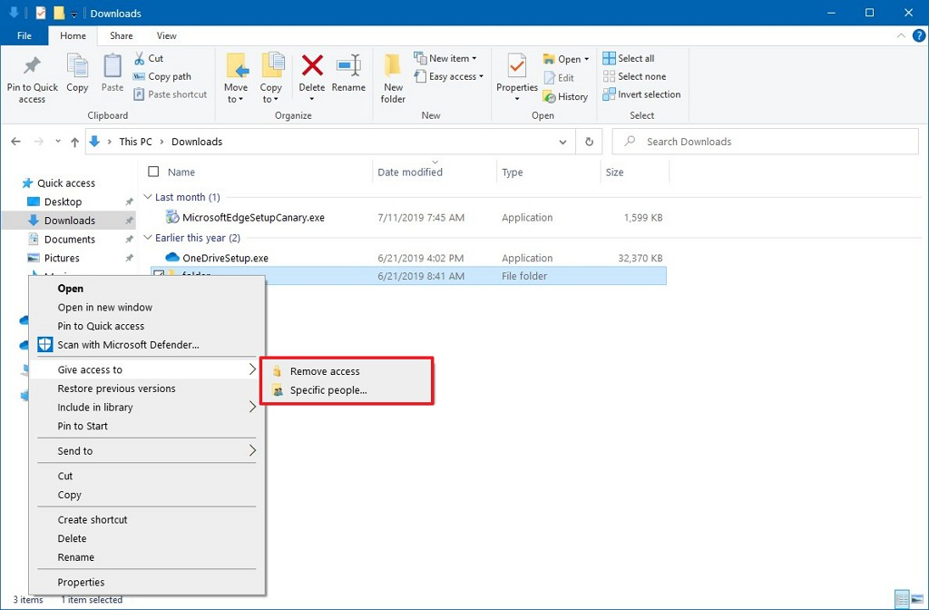 File Explorer with HomeGroup removed in context menu