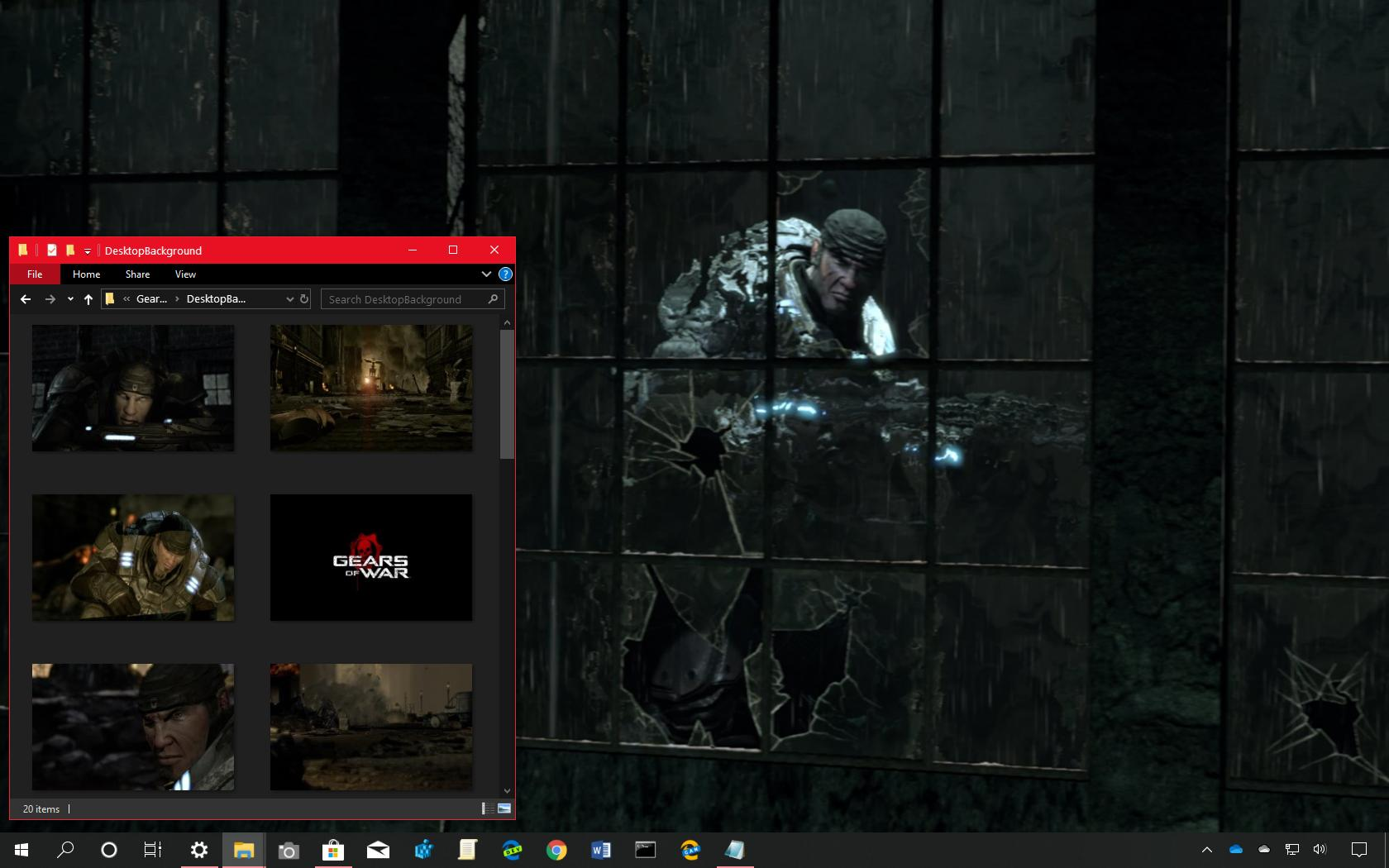 Gears of Wars Mad World theme for Windows 10