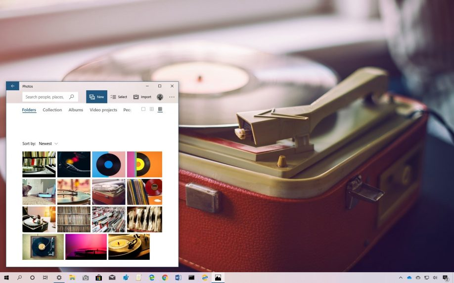 Visions of Vinyls theme for Windows 10