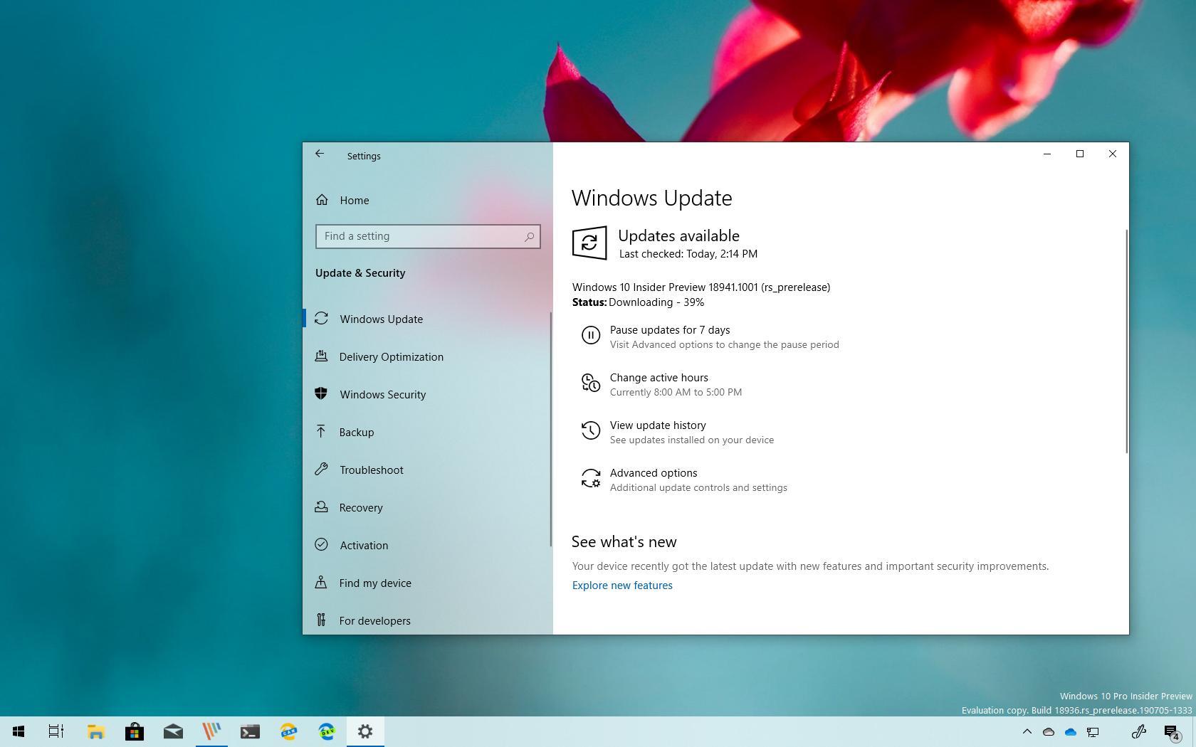 Windows 10 build 18941 download