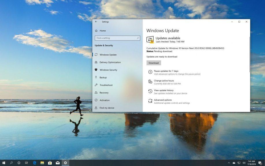 Windows 10 build 18362.10006 download