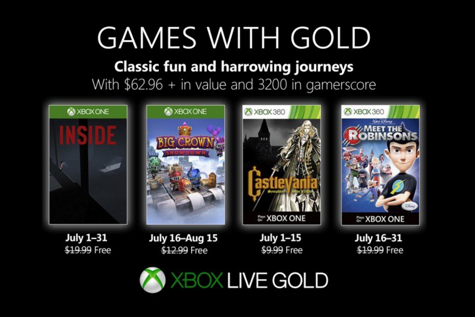 Xbox Games with Gold for July 2019