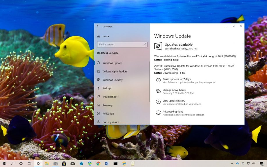 KB4512508 update for Windows 10 download