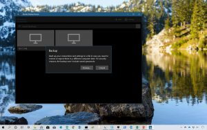 Remote Desktop app backup and restore connections and settings