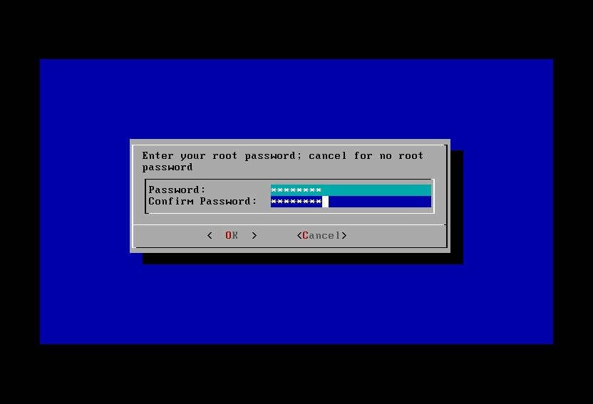 FreeNAS root password set up