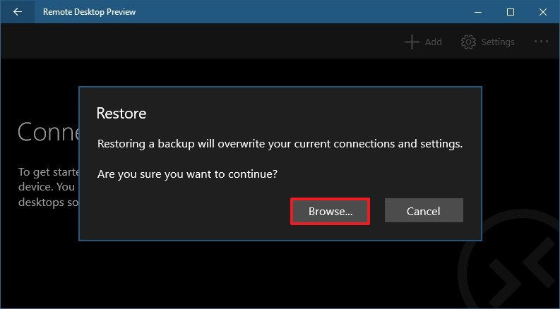 How to backup Remote Desktop app settings on Windows 10 • Pureinfotech