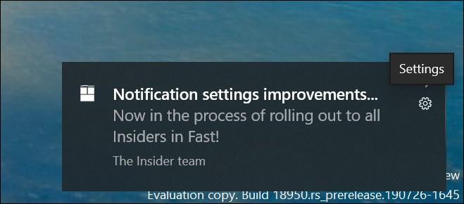 Toast notifications on Windows 10 201H1