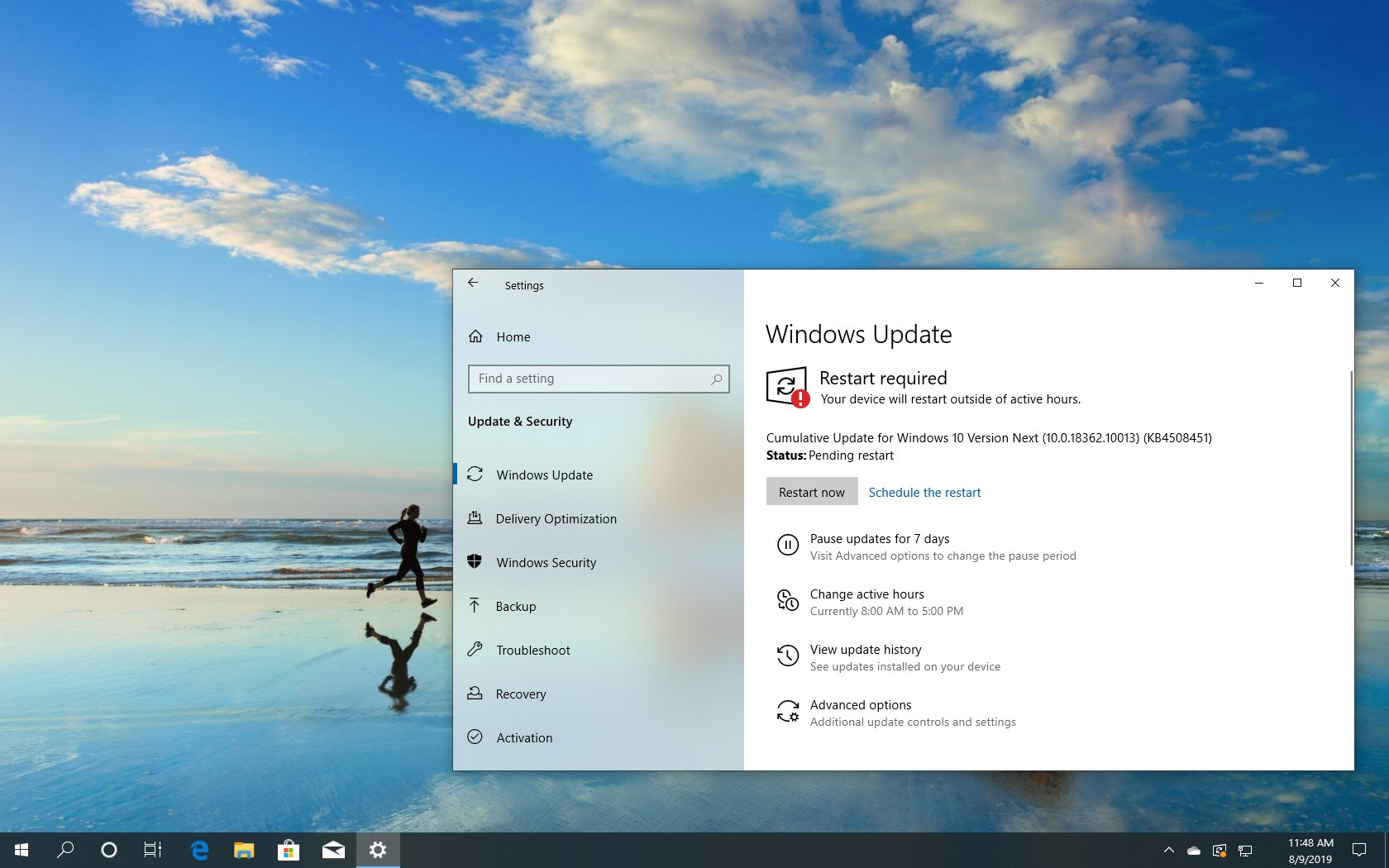 Windows 10 build 18362.10013 download