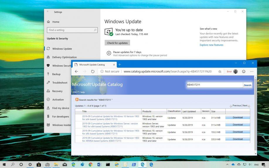 KB4517211 for Windows 10 download
