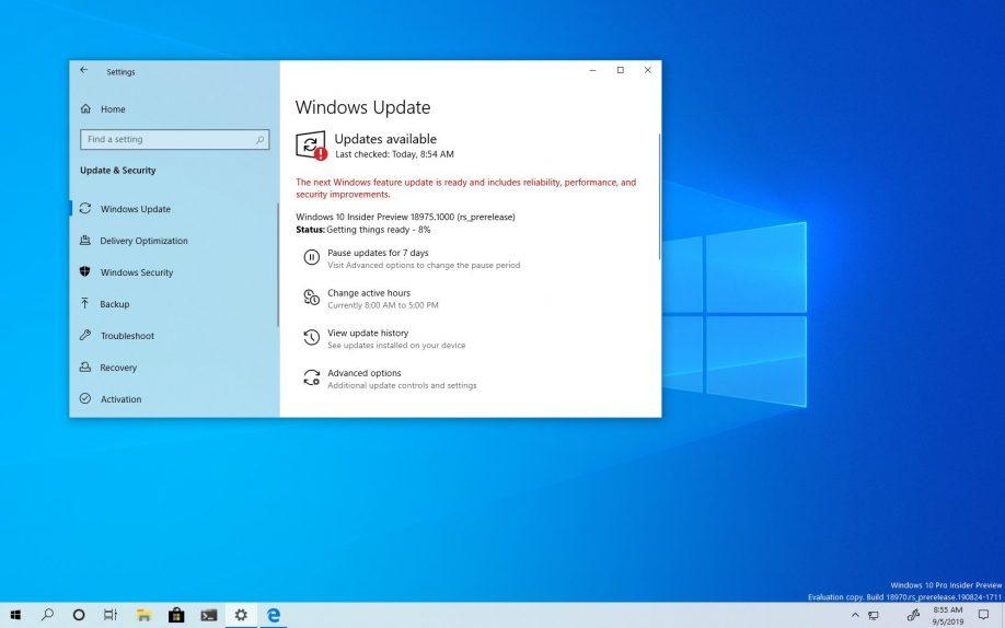 Windows 10 build 18975 download