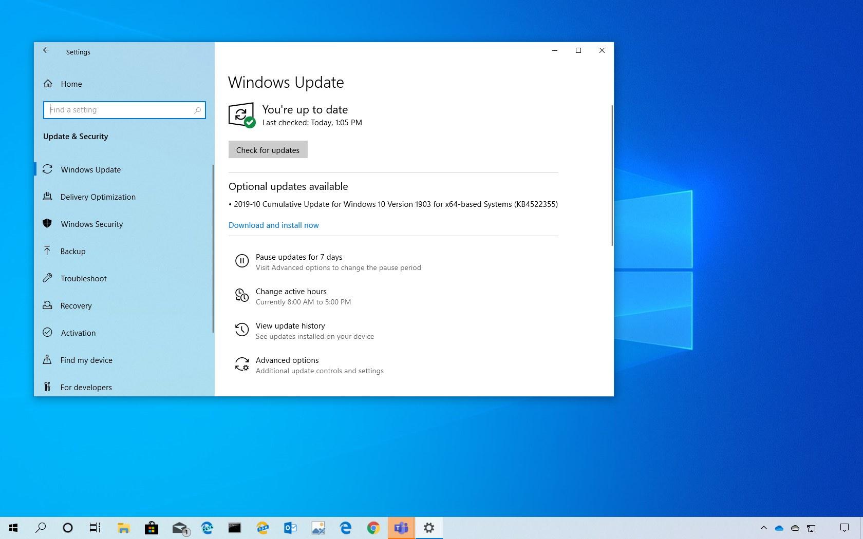 KB4522355 update for Windows 10 version 1903 download