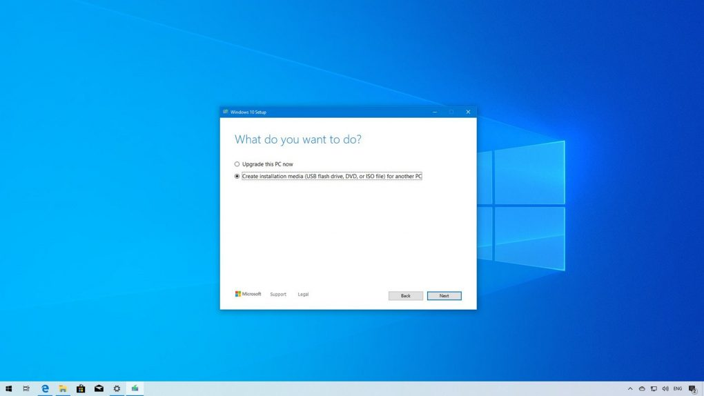 Clean Windows 10 version 1909 install setup