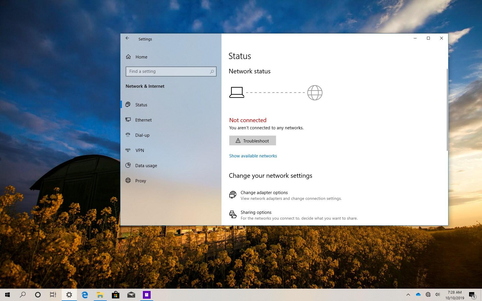 Fix Wi-Fi on Windows 10 version 1909