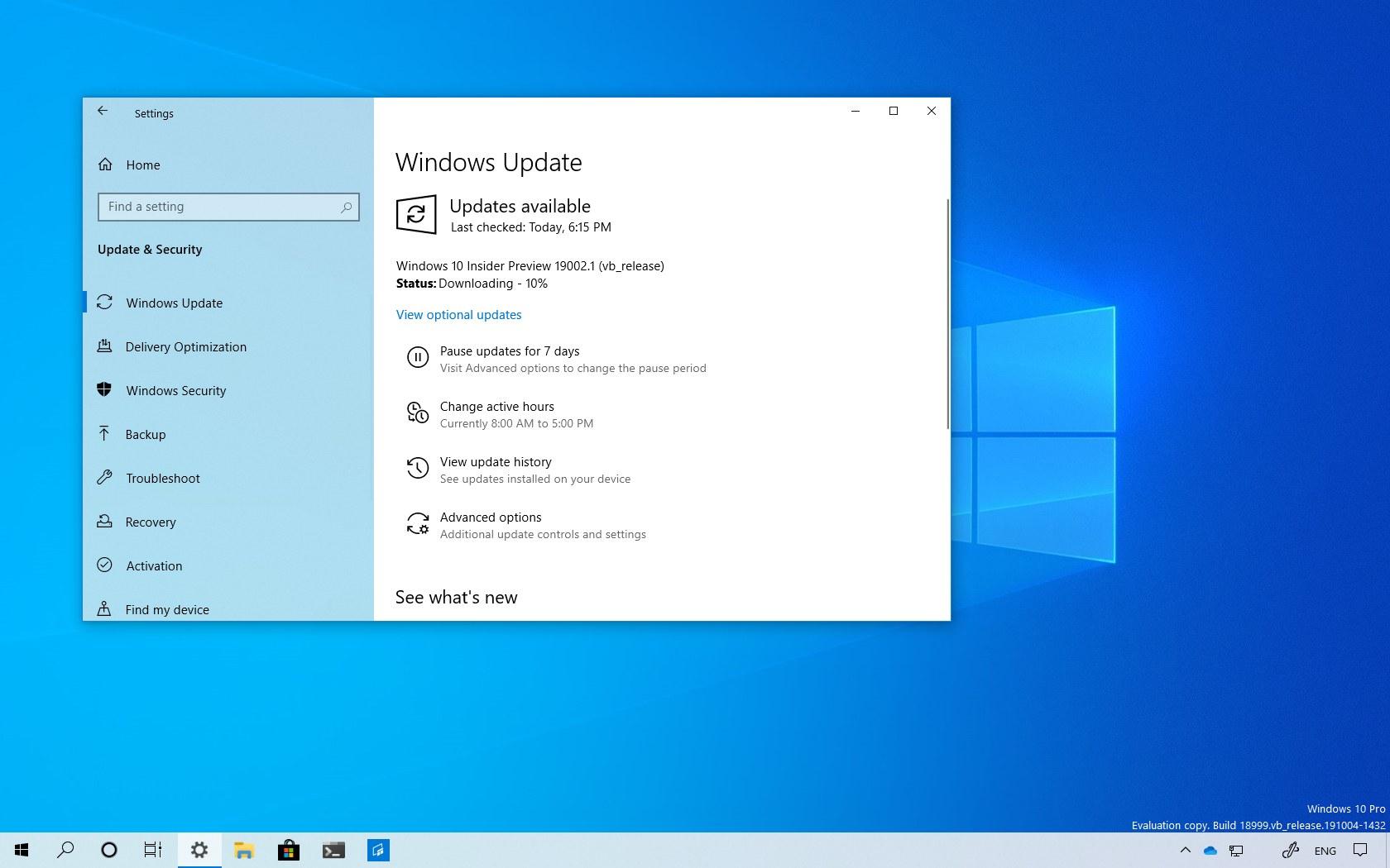Windows 10 build 19002 download