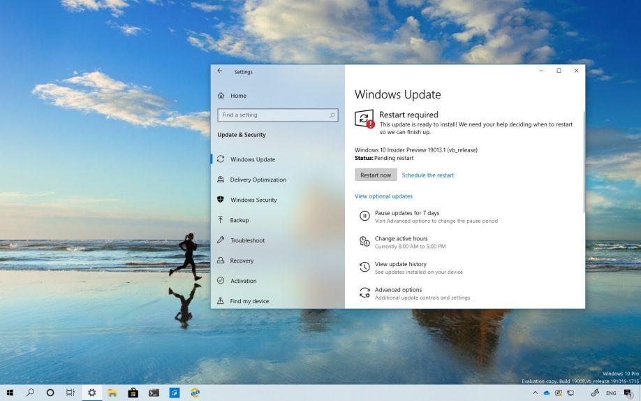 Windows 10 build 19013 download
