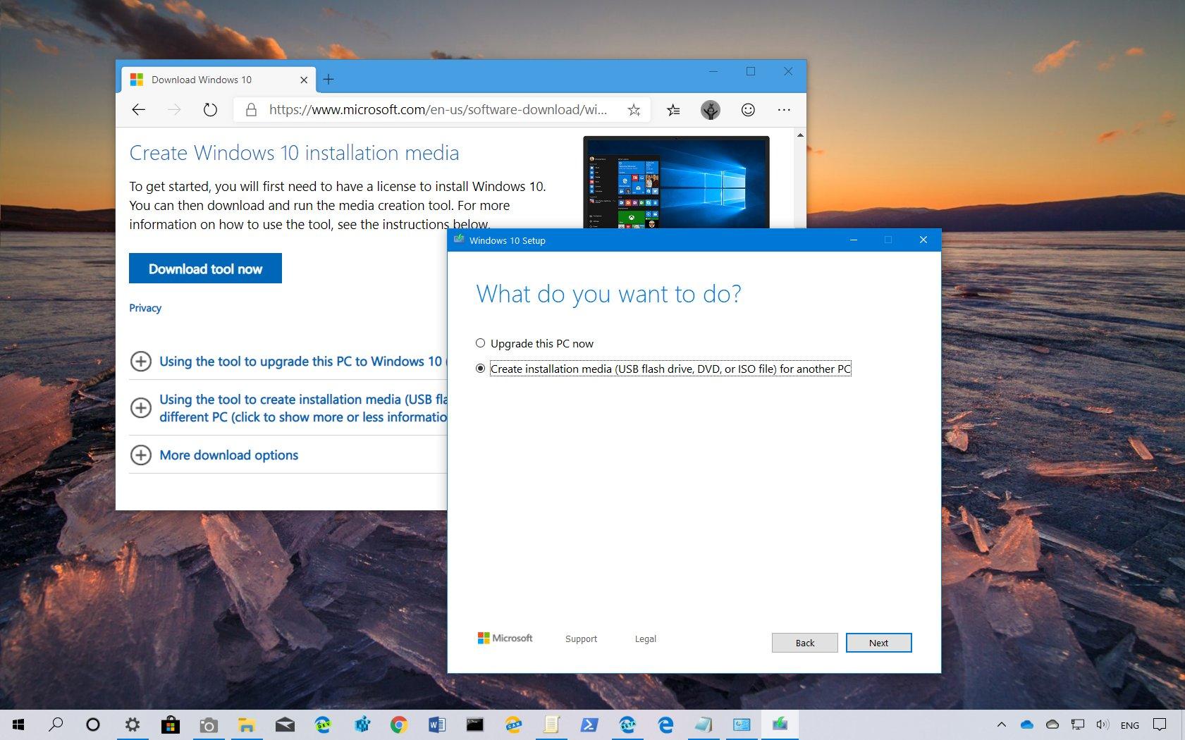 Windows 10 version 1909, May 2019 Update, Media Creation Tool download